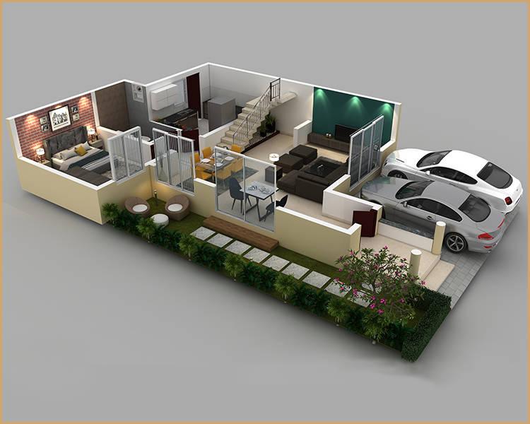 puravankara 2bhk floor plan