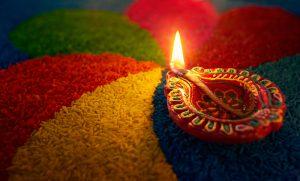 Happy Diwali - Diyas